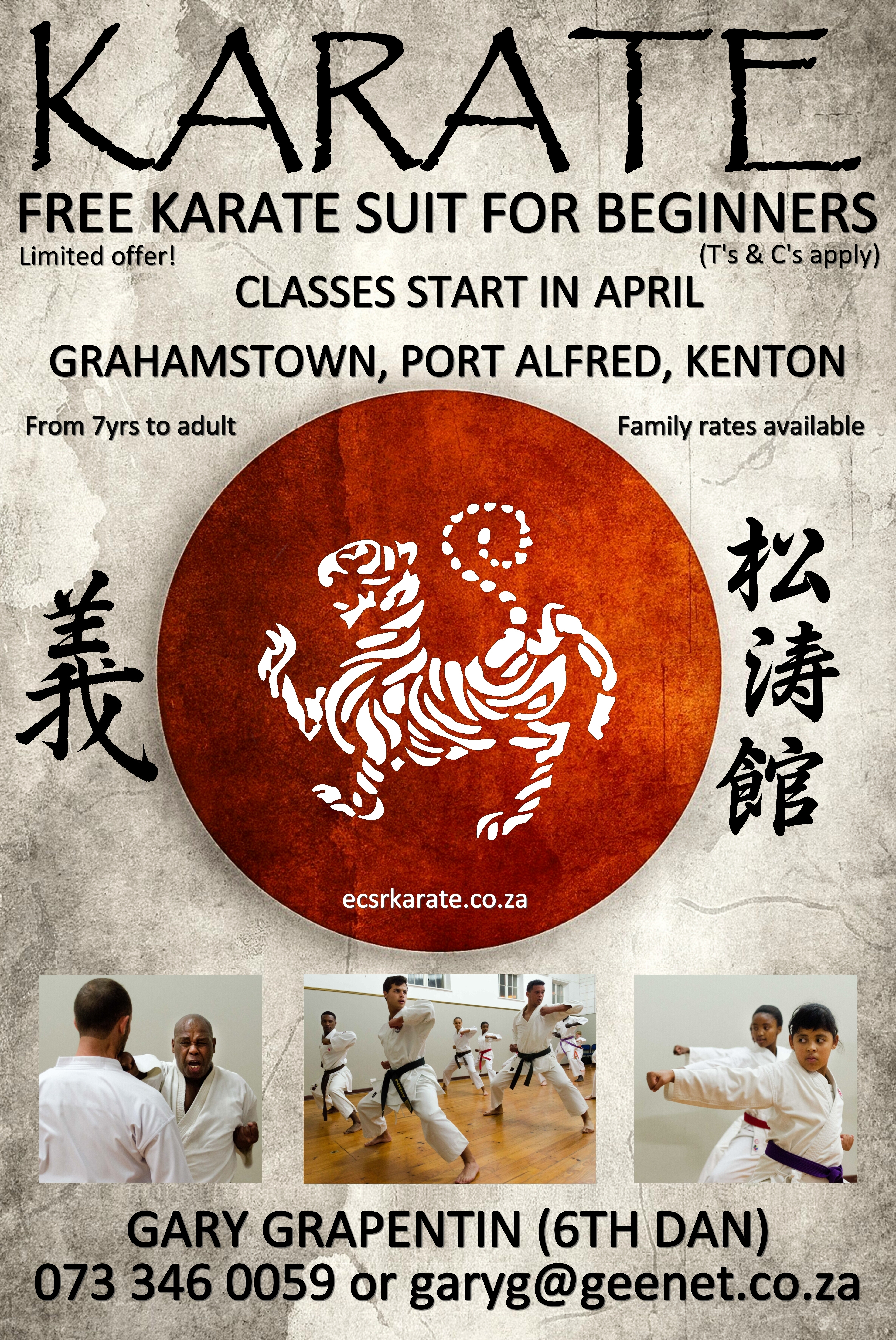 2018 Grahamstown, Port Alfred April (include for Ghstwn, PA and Kenton dojos)