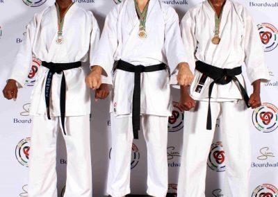 9 Senior Men Kumite winners e